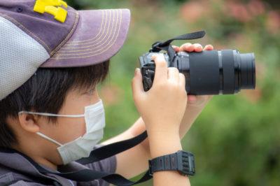 一眼カメラを持参した猛者も!重い機材も、しっかり支えながら撮っています…さすがですね!